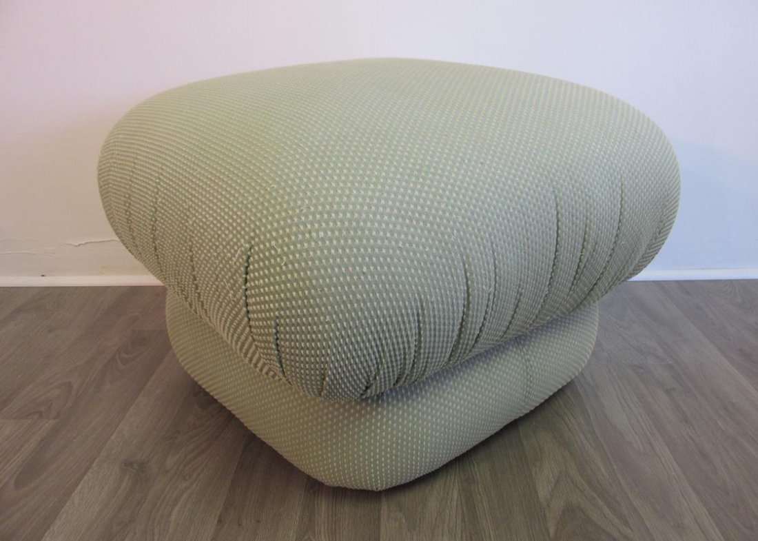 """THAYER COGGIN """"POOF"""" OTTOMAN, SIGNED"""