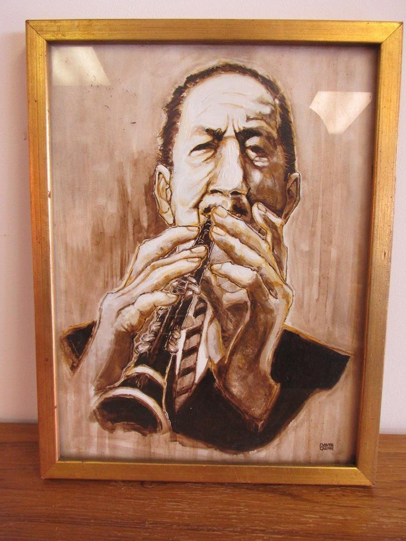 DAVID QUINN PORTRAIT OF PEE WEE RUSSELL