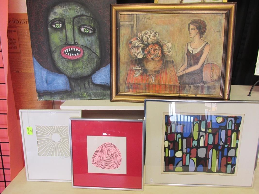 5 PC. VARIOUS MODERN ART PIECES