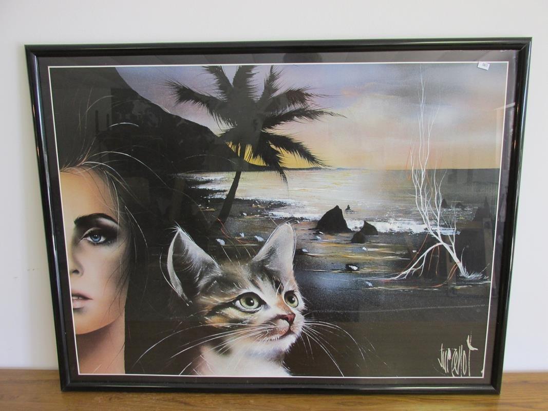 MODERN-CONTEMPORARY WOMAN/CAT ART