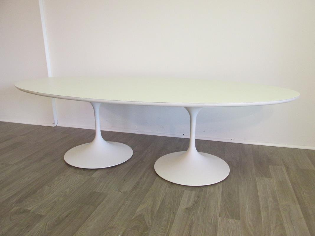 SAARINEN-STYLE TWO-PEDESTAL TABLE