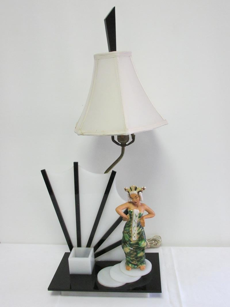 ASIAN DESIGN TABLE LAMP - MOSS