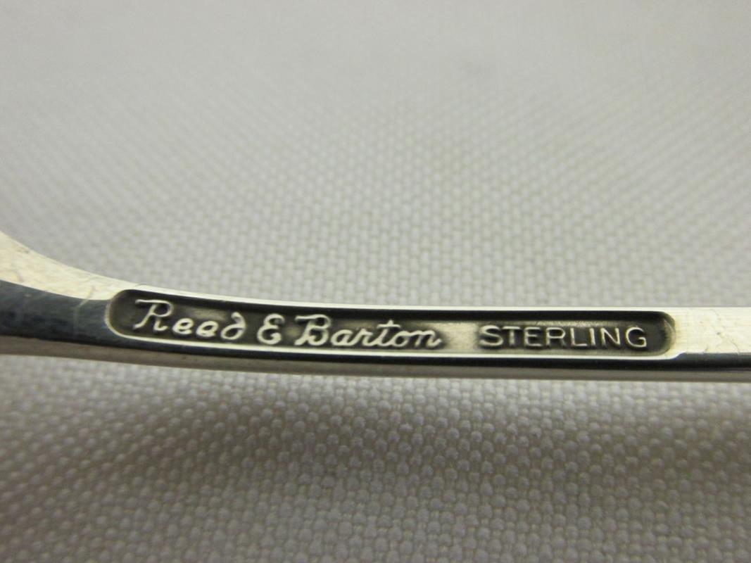 """TWO JOHN PRIP """"LARK"""" STERLING MODERNIST TEASPOONS - 2"""