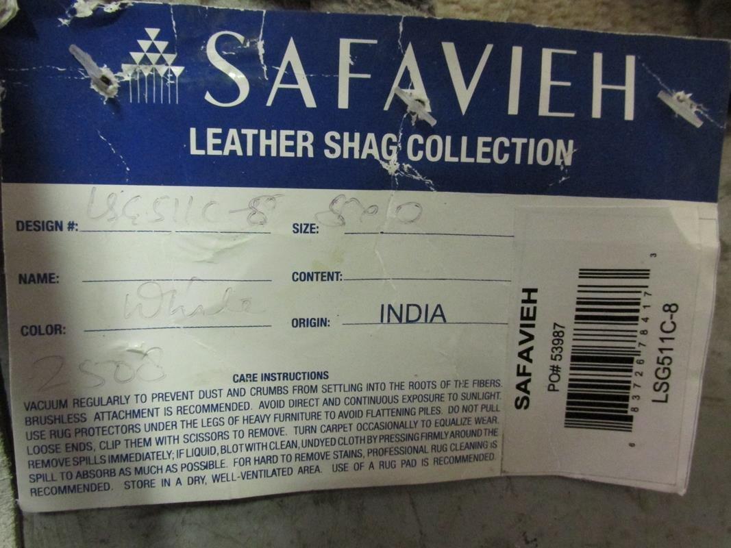 SAFAVIEH LEATHER SHAG ROOM SIZE RUG - 2
