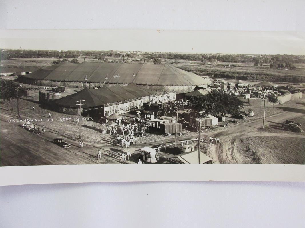 1945 RINGLING BROS. PANORAMIC BIG TOP PHOTOGRAPH