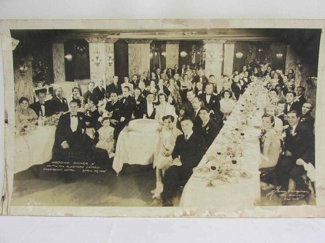 1935 WEDDING DINNER PANORAMIC PHOTO - CATARZI