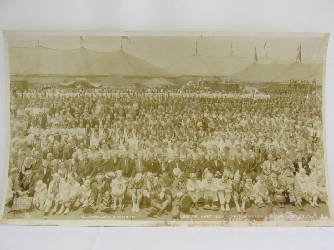 1934 RINGLING BROS. PANORAMIC CIRCUS PHOTOGRAPH