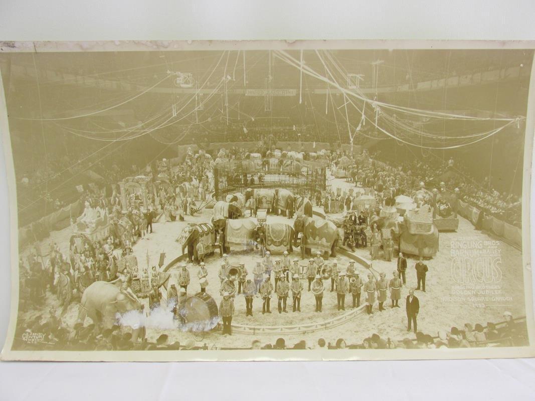 1933 RINGLING BROS. PANORAMIC CIRCUS PHOTOGRAPH