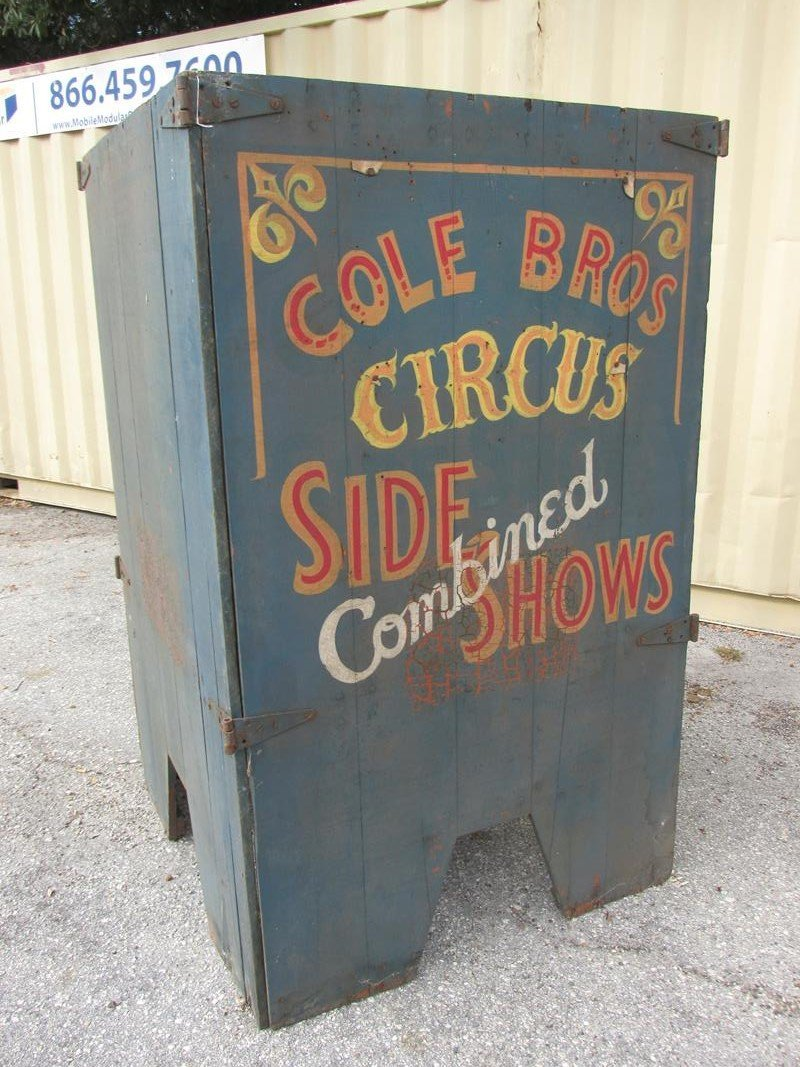 COLE BROS. SIDE SHOW TICKET BOOTH