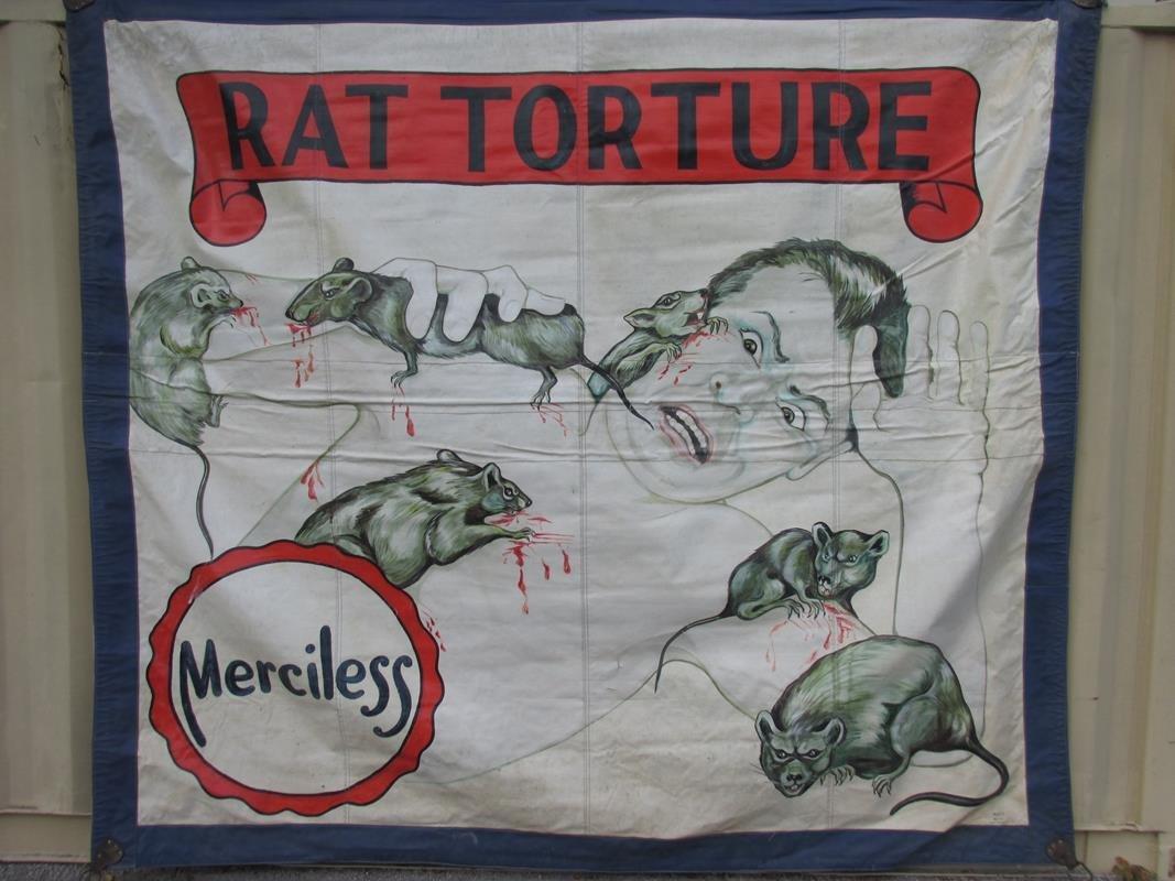 """RAT TORTURE"" SIDESHOW BANNER - BOOTS"