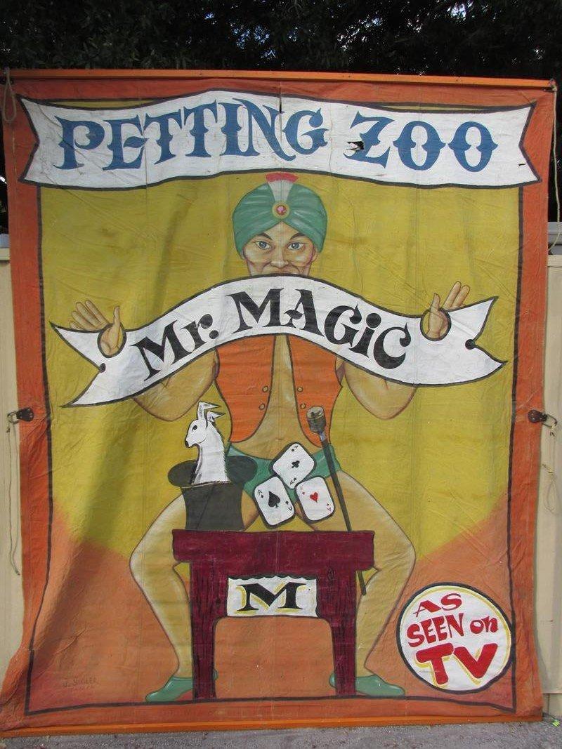 """""""MR. MAGIC"""" SIDE SHOW BANNER - J. SIGLER"""
