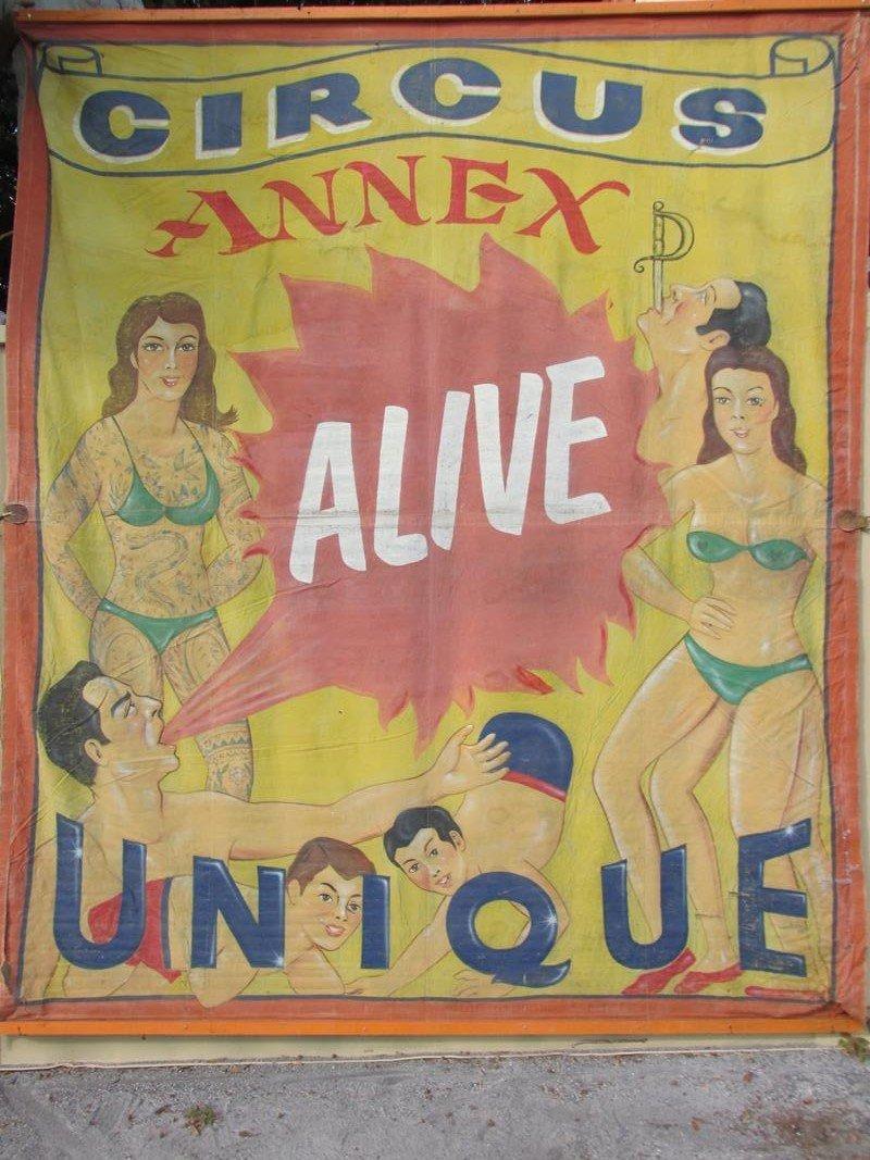 """""""CIRCUS ANNEX"""" SIDE SHOW BANNER - WANDERLIN"""