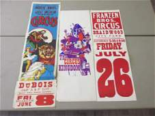 GROUPING OF CIRCUS BROADSIDES ADVERTISEMENTS