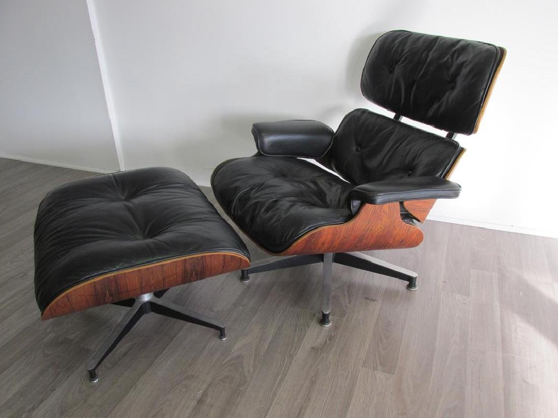 CHARLES & RAY EAMES FOR HERMAN MILLER ROSEWOOD/LEATHER