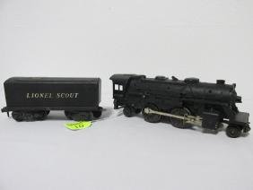 LIONEL TRAIN #1110 LOCOMOTIVE & SCOUT TENDER