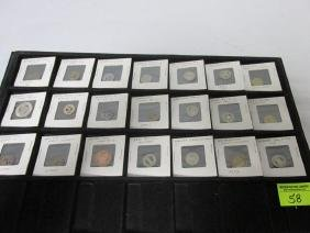 COLLECTION OF 21 TRANSPORTATION TOKENS
