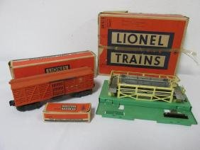 LIONEL #3656 OPERATING CATTLE CAR, COMPONENTS