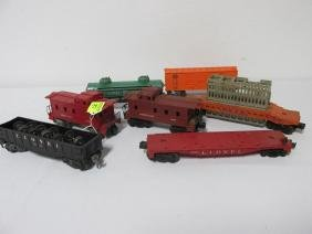 1957 GROUPING OF LIONEL TRAIN CARS, MANUAL