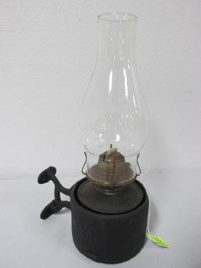 L&N LANTERN, CAST IRON WALL MOUNT
