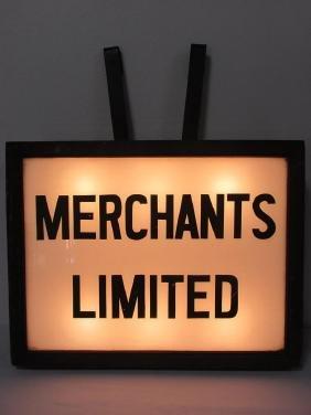 RARE - MERCHANTS LIMITED LIT BOX SIGN