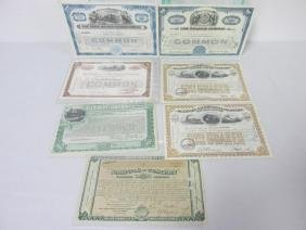 COLLECTION OF VARIOUS RAILROAD STOCK CERTIFICATES