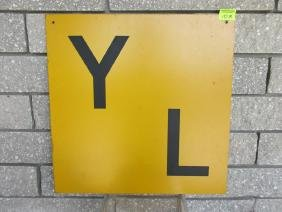 YARD LIMIT TIN SIGN