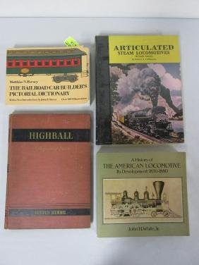 4 BOOK LOT OF RAILROAD PICTORIALS