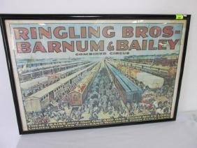 RINGLING BROS. BARNUM, BAILEY CICRUS TRAIN POSTER