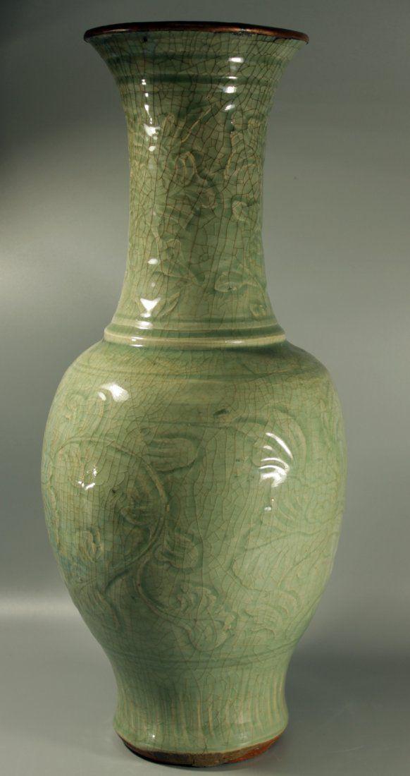 A Yuan Dynasty LongQuan Ware Vase