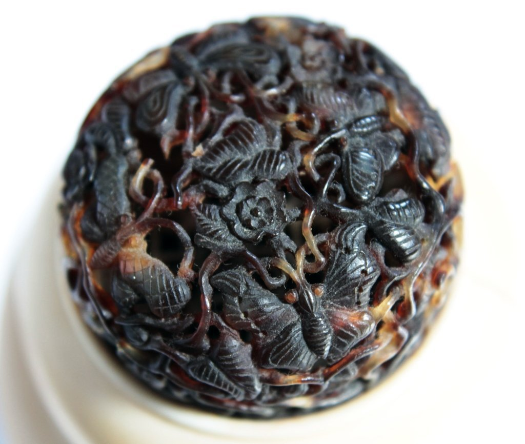 A Chinese Antique Gourd Cricket Case With Tortoise - 8