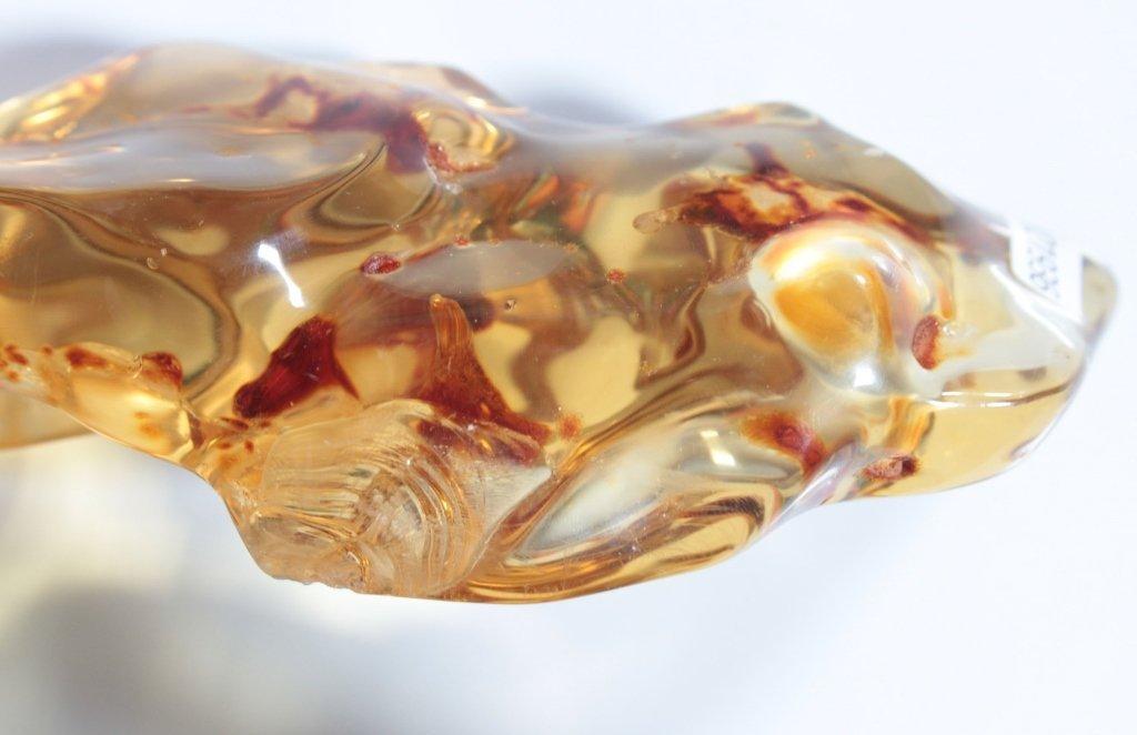 A Chinese Big Natural Amber Stone - 3