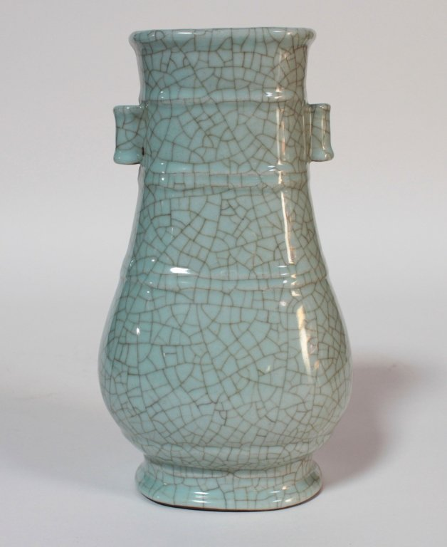 A Chinese Guan Type Cracked Porcelain Vase