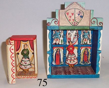 75: TWO NEW MEXICAN ALTAR BOXES