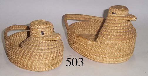 503: TWO PAPAGO BASKETS