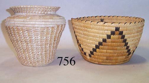 756: TWO PAPAGO BASKETS