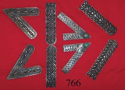 766: FOUR SETS OF COLLAR TABS