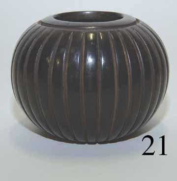 21: SANTA CLARA/ZUNI POTTERY JAR