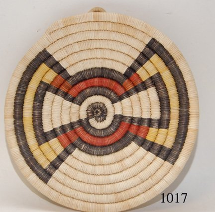 1017: HOPI BASKETRY PLAQUE