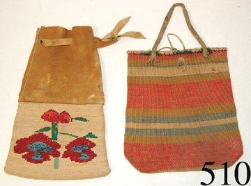 510: TWO NEZ PERCE CORNHUSK BAGS