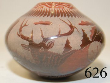 626: SANTA CLARA POTTERY JAR