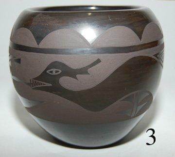 3: SANTA CLARA POTTERY JAR