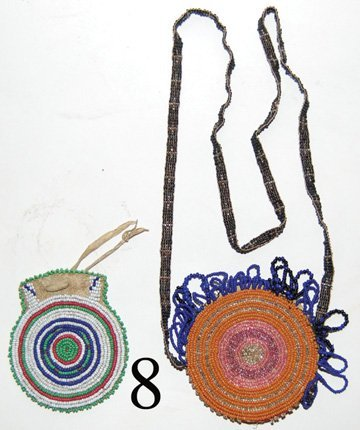 8: TWO PLAINS BEADED BAGS