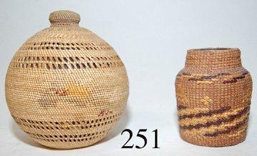 251: HAIDA/MAKAH BASKETRY BOTTLES