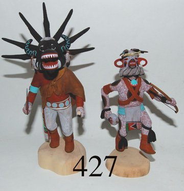 427: TWO HOPI KACHINAS