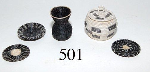 501: FIVE PAPAGO BASKETS