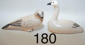 180: TWO ESKIMO SCULPTURES