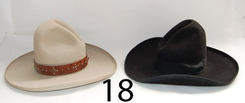 18: TWO WESTERN HATS