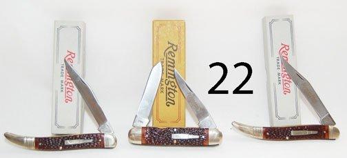 22: THREE POCKET KNIVES
