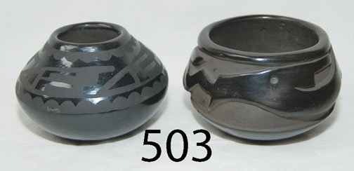 503: TWO SAN ILDEFONSO POTTERY ITEMS
