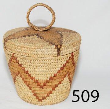 509: PAPAGO LIDDED BASKET